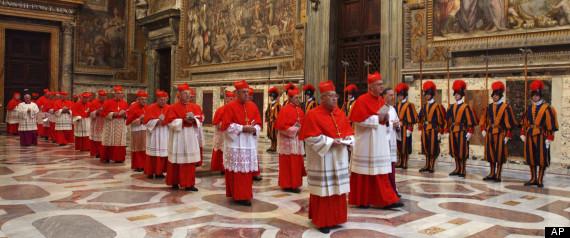 Cardinals Roosting in Sistine Chapel, 2005